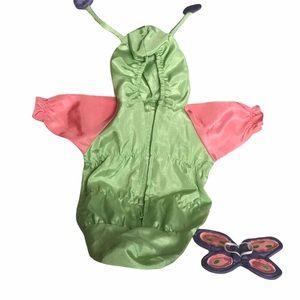 AG Bitty Baby butterfly/caterpillar green costume